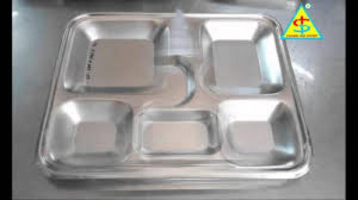 Khay cơm inox 5 ngăn 304 cao cấp0