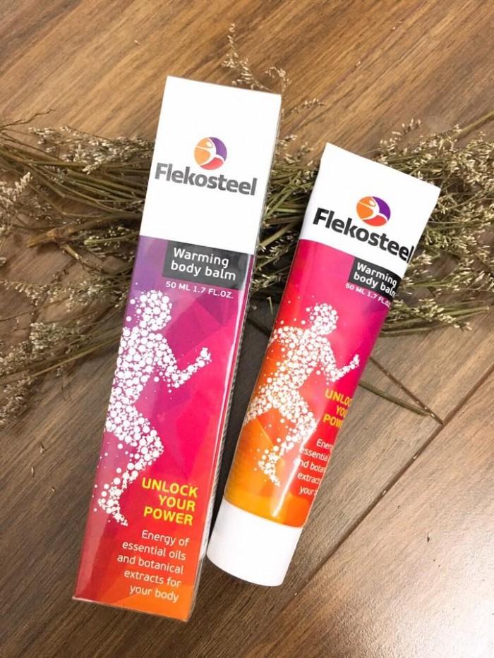 Flekosteel kem sinh nhiệt hỗ trợ điều trị thoát vị đĩa đệm, đau nhức xương khớp