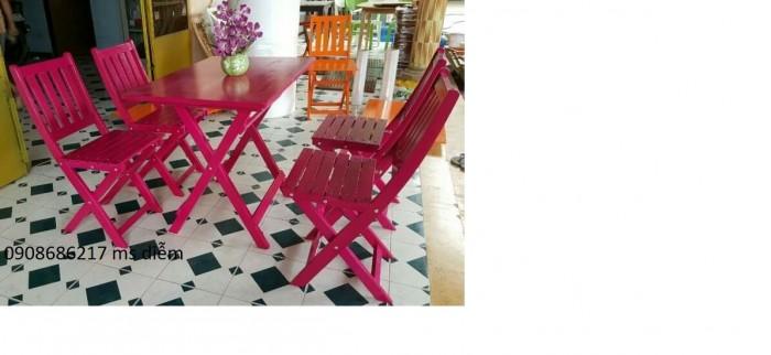 Bàn ghế gỗ đa màu giá góc tại xưởng0