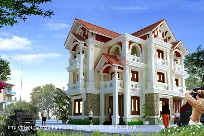Mẫu 3D biệt thự cổ điển đẹp