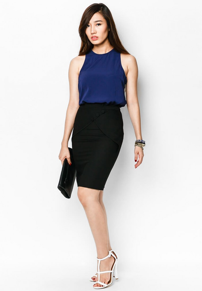 Mẫu áo đầm đồng phục công sở AnnA Uniforms chất lượng cao, may kỹ đẹp chuẩn tôn vinh dáng, sự sang trọng của phái nữ. | Liên hệ ngay để được tư vấn!