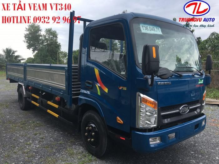 Bán xe Veam VT340S tải trọng 3,5 tấn thùng dài 6m động cơ Hyundai 3