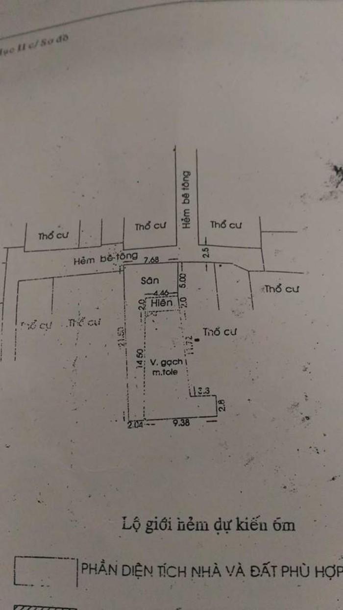 Bán nhà kèm đất, đường Nguyễn Thị Thập, quận 7, DT 7.68m x 21.5m