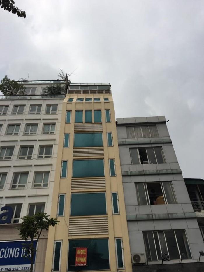 Bán tòa nhà lô góc mặt phố Nguyễn Khánh Toàn diện tích 160m2, 9 tầng, mặt tiền 8m.