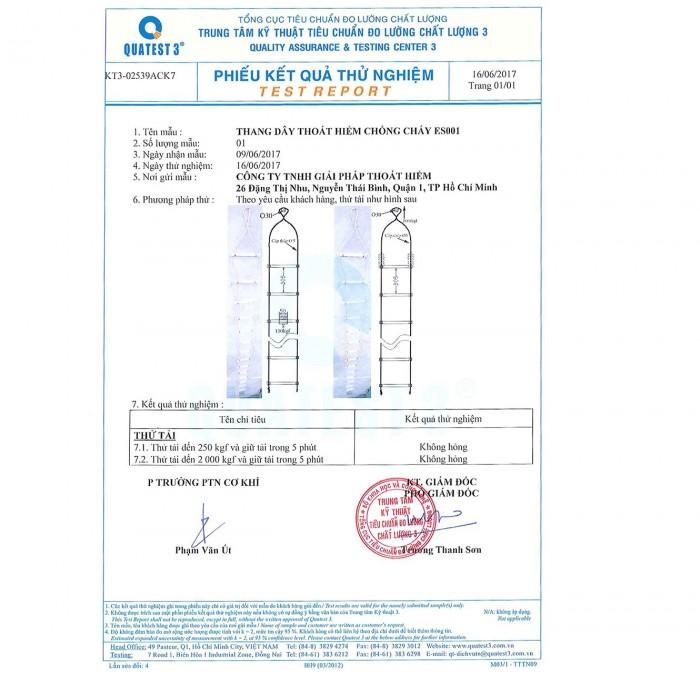 Thang dây Nhôm thoát hiểm Tiêu Chuẩn Châu Âu - ES00115 - (15m)
