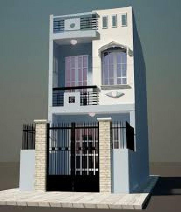 Nhà 1 trệt 1 lầu mới 100%, SHR, giá 820Tr/ căn, 4 PN, thiết kế hiện đại