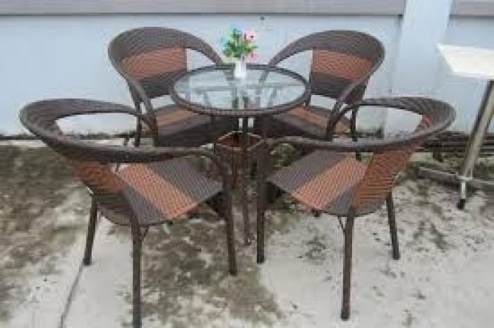 Bàn ghế mây cafe giá rẻ1
