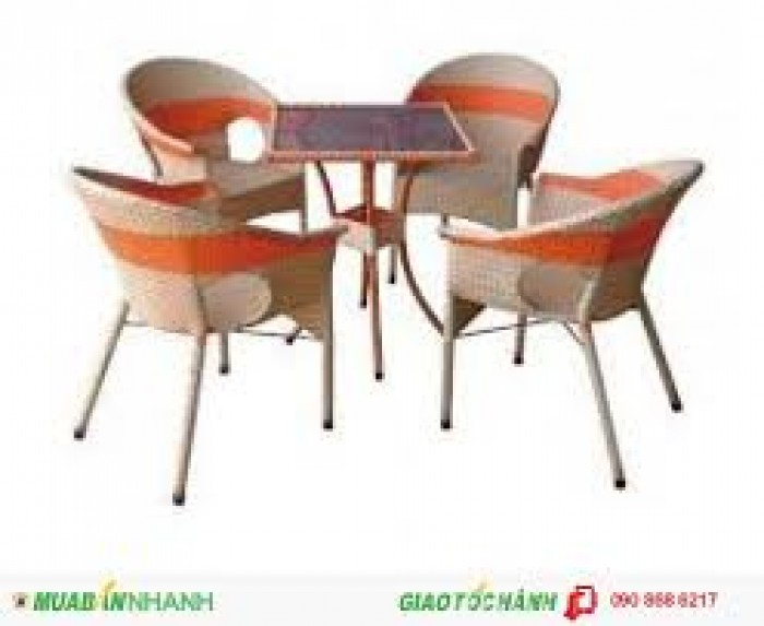 Bàn ghế mây cafe giá rẻ4