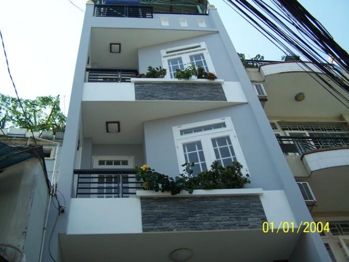 Bán nhà, MT Lê Văn Sỹ, Quận 3, 4.5x23, Trệt 4 lầu mới.