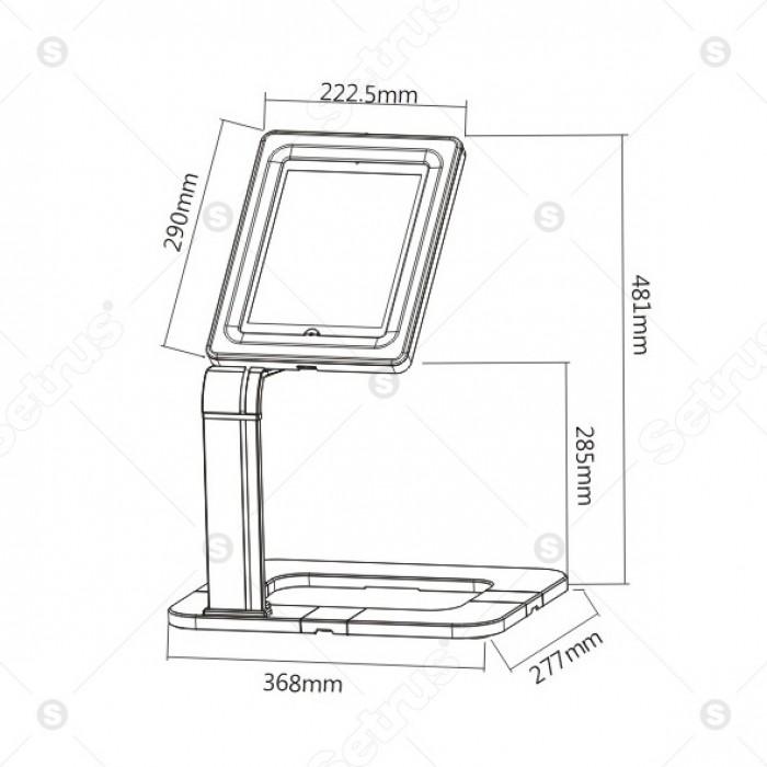 Giá đỡ trưng bày dành cho máy tính bảng BR-PAD 15-02.