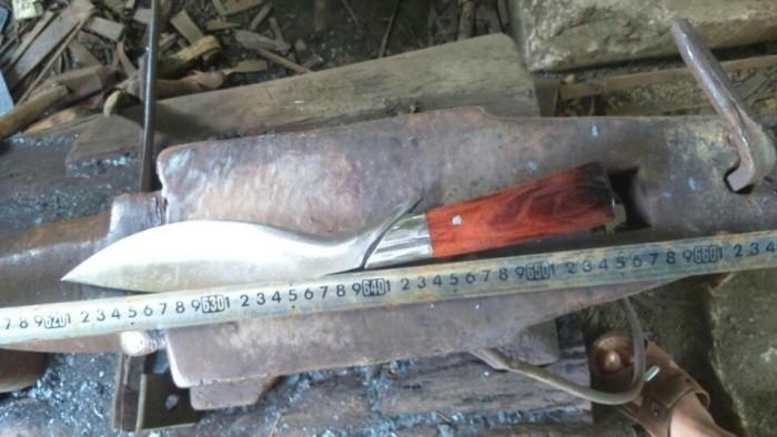 Kukri Giọt Lệ, chất liệu rèn nhíp, chuyên dụng phượt, đi rừng3
