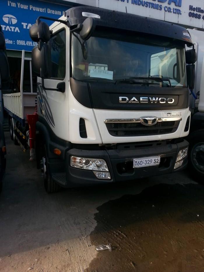 Xe tải cẩu Daewoo Prima 3 dò rút giảm giá cực tốt