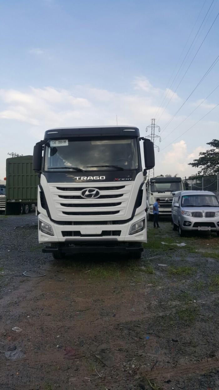 Xe ben Hyundai tải 12t  thùng vuông 10 khối