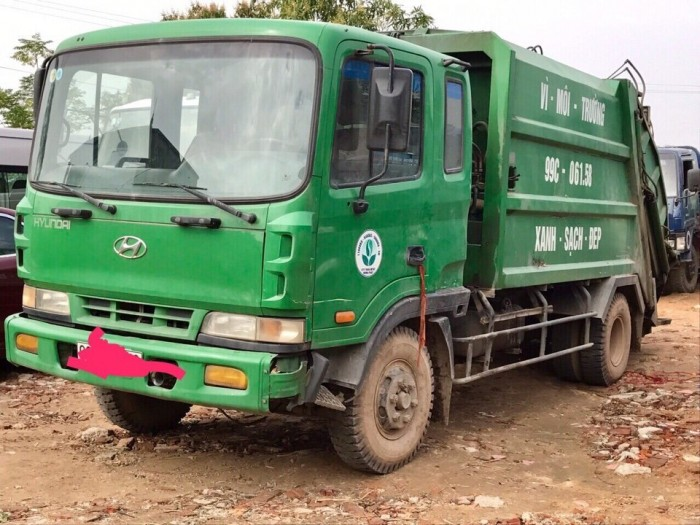 bán xe cuốn ép rác cũ hyundai 5 tấn