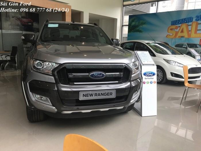 Mua xe Ford Ranger Wildtrak 2.0L 2018 trả góp 150 triệu, số tự động, màu xám, giao xe trong 30 ngày.
