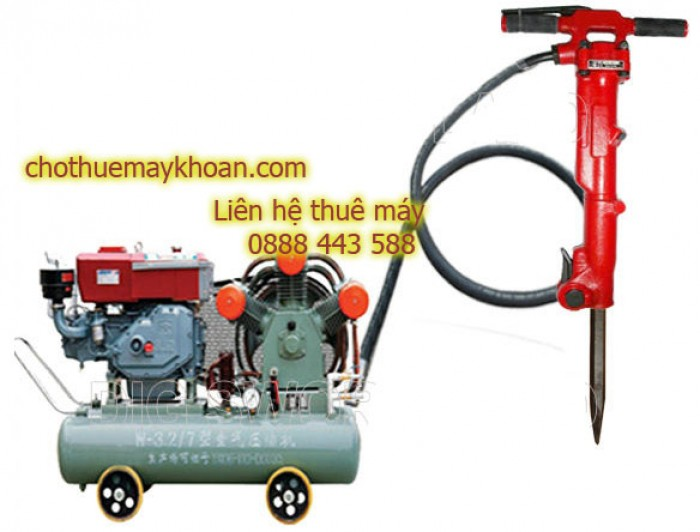 Cho thuê máy đục hơi, dùng khí nén tại Hà Nội0