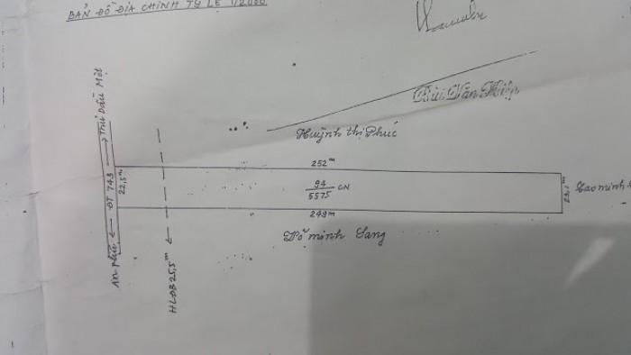 Bán 5.575m2 đất ĐT743 Thuận An làm xưởng,kho bãi hoặc cty ngay Mỳ Gấu Đỏ-Thuận An