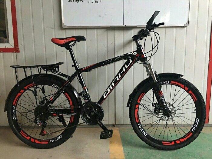 Xe đạp thể thao DINHU new 2017 đỏ đen