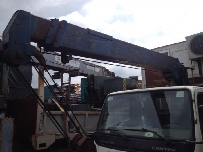 Xe cẩu cũ mitsu 1t9 đời 2008 thùng dài 4m3 cẩu 5 tấn