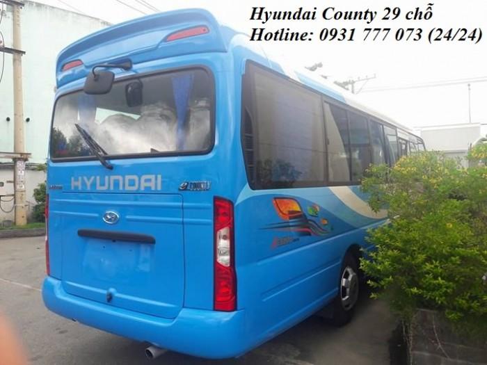 Khuyến Mãi Mua Xe Hyundai County 29 chỗ mới, vay trả góp 300 triệu, giao xe trong vòng 5 ngày