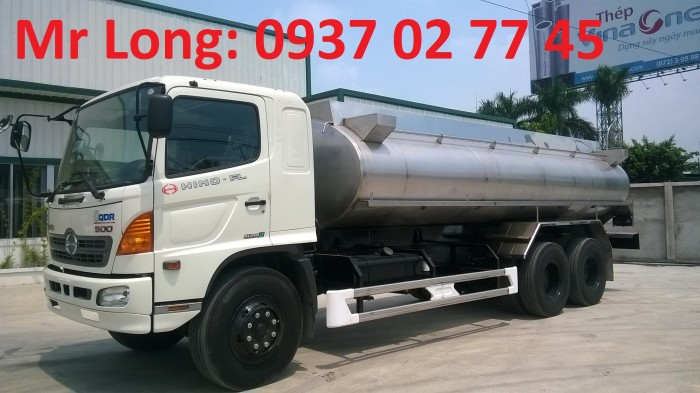 Xe bồn Hino 15 tấn chở dầu thực vật, xe bồn Hino 3 chân chở dầu thực vật , Xe tải chở dầu thực vật , Xe chở dầu cá , Xe bồn INOX chở sữa , xe HINO FL8JT7A bồn inox chở dầu ăn , xe chở dầu ăn 16 khối 1