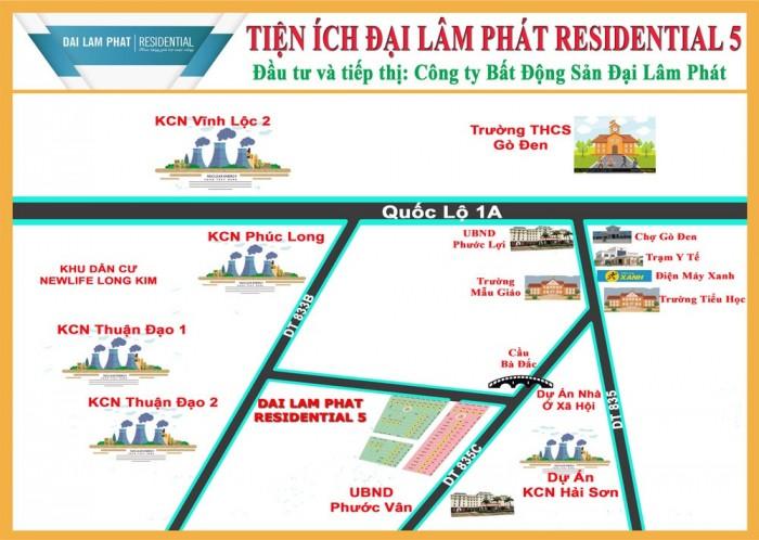 Chính thức mở bán 10 lô đất mặt tiền 7m, SHR gần chợ Bình Chánh