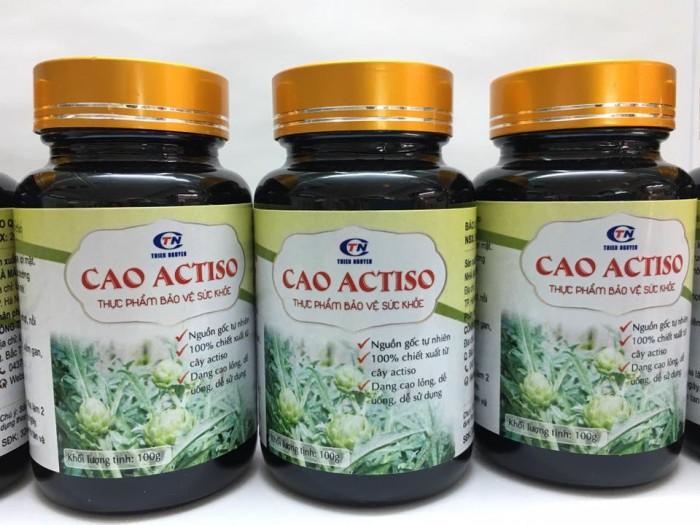 Cao Atiso được chiết xuất từ hoa Atiso có tác dụng thanh nhiệt, mát gan. Sản phẩm dùng tốt cho người bị nóng gan, nổi mụn, nổi mày đay. Chai 100 gr. Giá bán: 145.000đ/ lọ. Liên hệ 0932292136