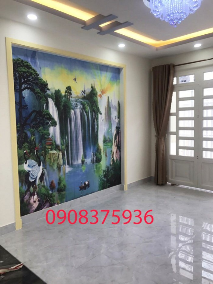 Cần bán nhà đẹp lung linh Phạm Hữu Lầu,P. Phú Mỹ,Quận 7 DT:4x13m,1 trệt 2 lầu,sân thượng.