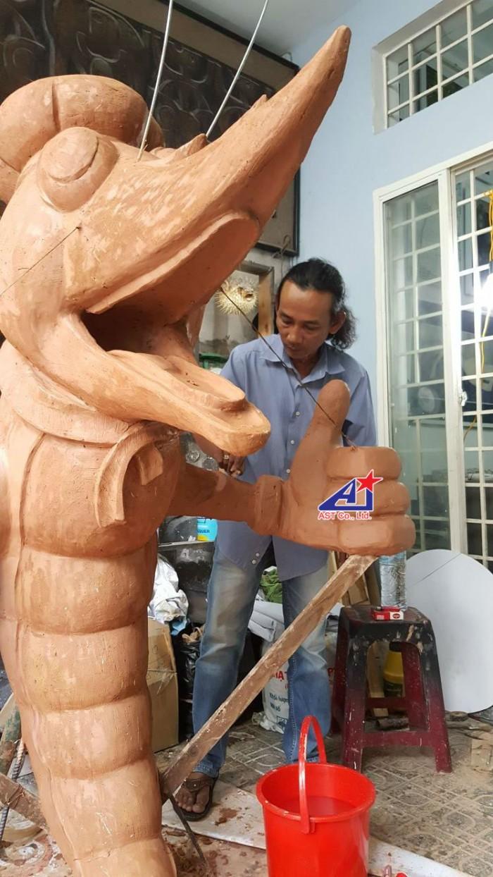 Quảng cáo Ánh Sao Trẻ thi công Mô hình linh vật 3D - Mô hình linh vật nhà hàng - Hình 3