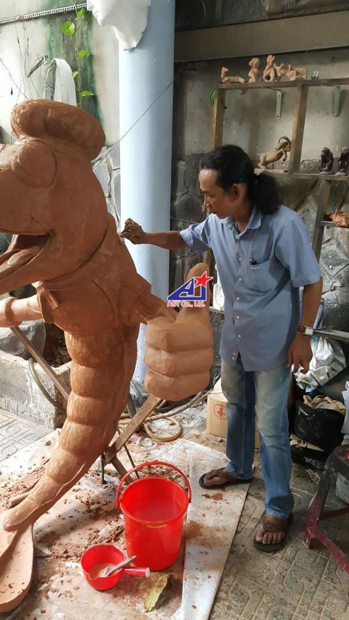 Quảng cáo Ánh Sao Trẻ thi công Mô hình linh vật 3D - Mô hình linh vật nhà hàng - Hình 5