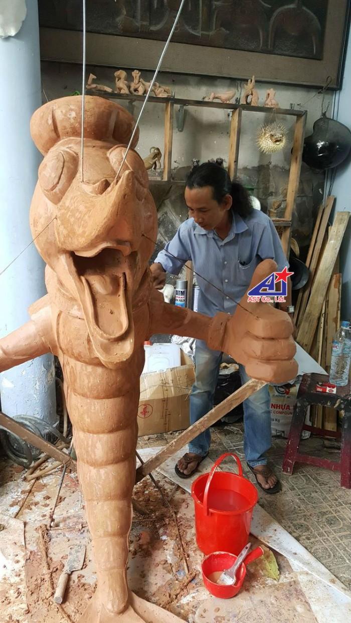Quảng cáo Ánh Sao Trẻ thi công Mô hình linh vật 3D - Mô hình linh vật nhà hàng - Hình 7