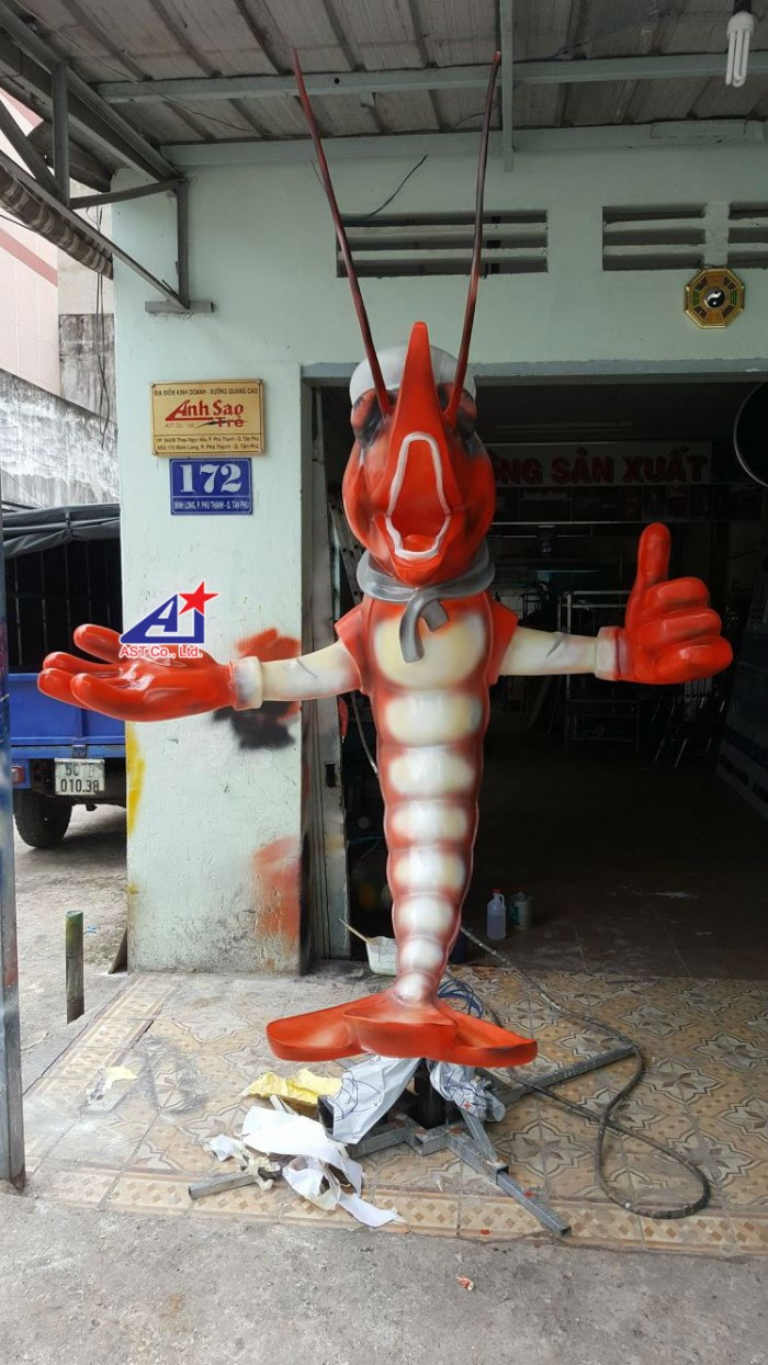 Quảng cáo Ánh Sao Trẻ thi công Mô hình linh vật 3D - Mô hình linh vật nhà hàng - Hình 10