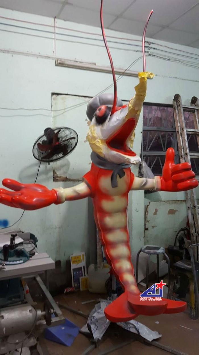Quảng cáo Ánh Sao Trẻ thi công Mô hình linh vật 3D - Mô hình linh vật nhà hàng - Hình 11