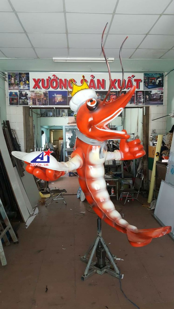 Quảng cáo Ánh Sao Trẻ thi công Mô hình linh vật 3D - Mô hình linh vật nhà hàng - Hình 15