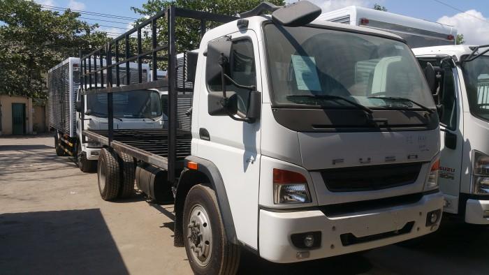 Xe tải Mitsubishi Fuso FI 12T thùng mui bạt, thùng kín khuyến mãi lớn