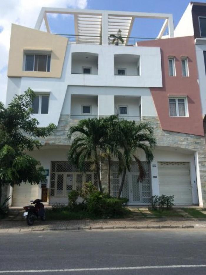 Cho thuê nhà mới xây MT Nguyễn Bính, Q.7, (DT: 12x18.5m, 1 hầm, 1 trệt, 4 lầu).