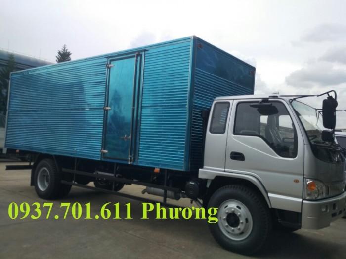 Xe tải jac HFC1383K1  7.8 tấn thùng dài 7.6 mét hỗ trợ trả góp 0