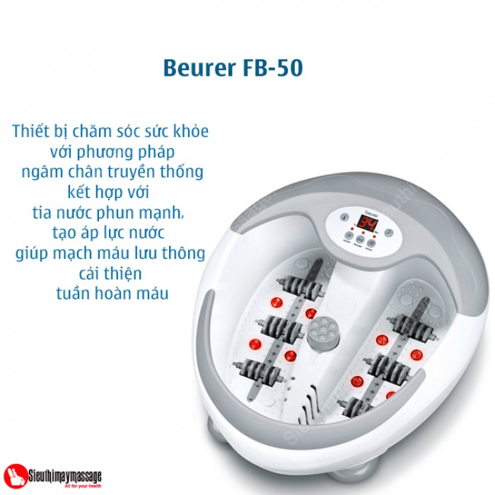 Bồn ngâm chân hồng ngoại Beurer FB50 nhập khẩu từ Đức