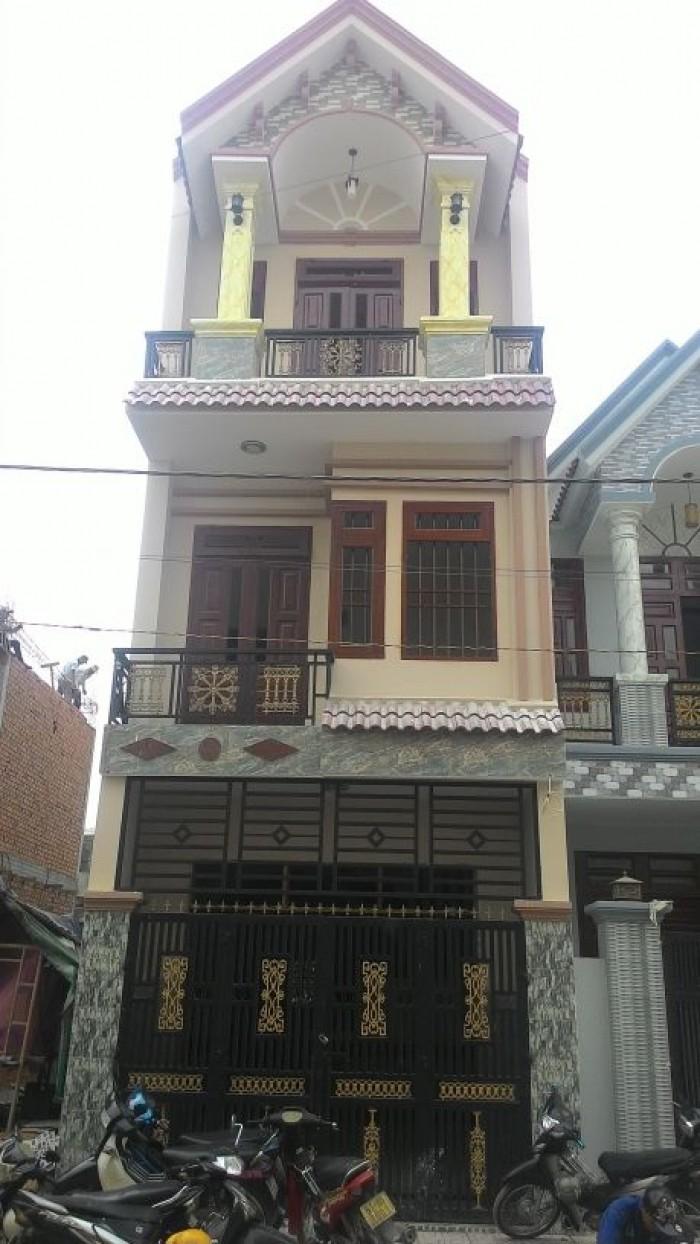 Nhà 1 trệt 2 lầu tấm đúc, tổng dt 160m2 gần cao đẳng công thương, shr, nhà hoàn công
