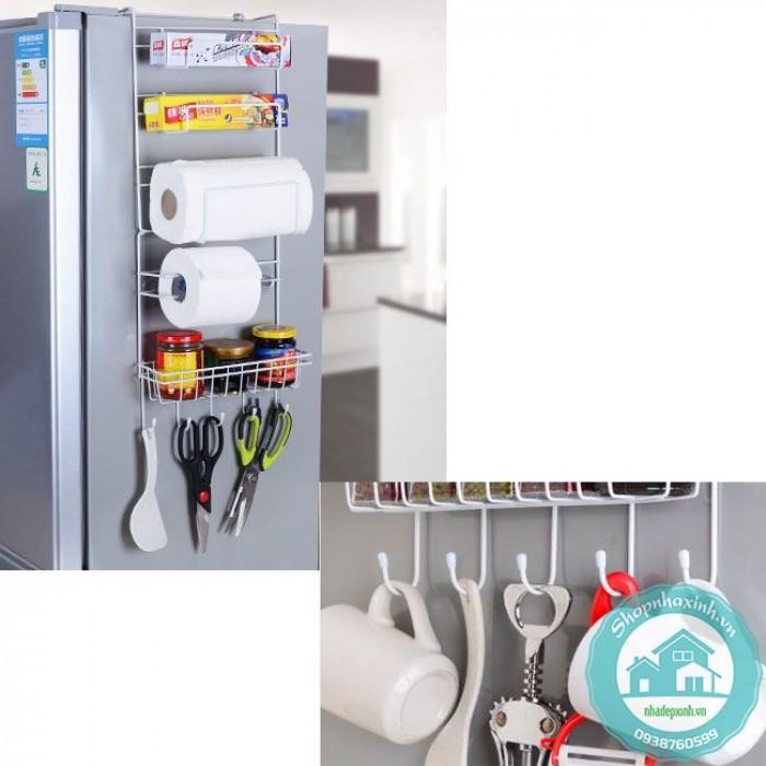 Giá treo cạnh tủ lạnh đa năng thông minh giá rẻ NX69061
