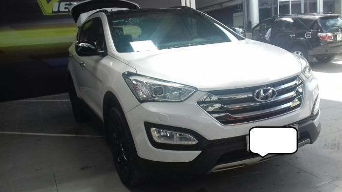 Hyundai Santa Fe 4WD 2.4AT sx 2015 màu trắng 0