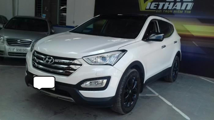 Hyundai Santa Fe 4WD 2.4AT sx 2015 màu trắng 1