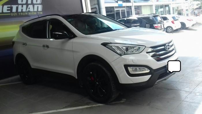 Hyundai Santa Fe 4WD 2.4AT sx 2015 màu trắng 2