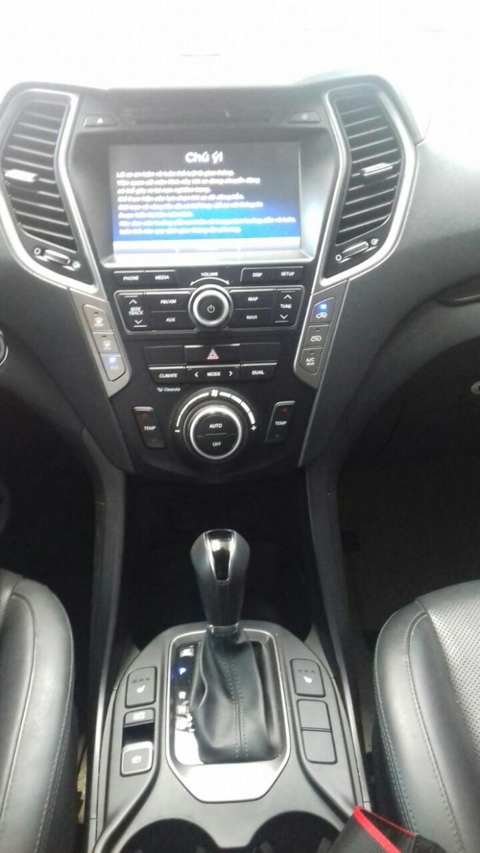 Hyundai Santa Fe 4WD 2.4AT sx 2015 màu trắng 7