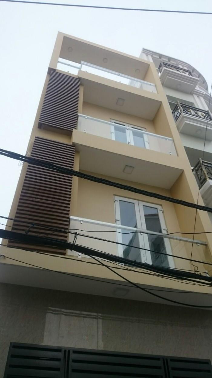 Bán nhàHXT 482 Nơ Trang Long,P12,Bình Thạnh,DT:4x12.7