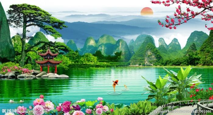 Tranh 3d phong cảnh2