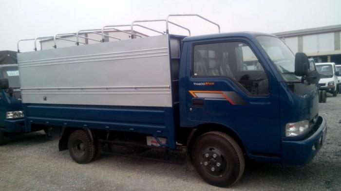 Thaco Kia K165 tải 2,4 tấn với các option thùng lửng, thùng mui bạt, thùng kín 14