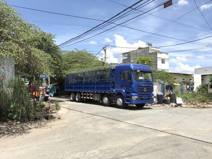Xe tải thùng 4 chân shacman hàng mới về năm 2017