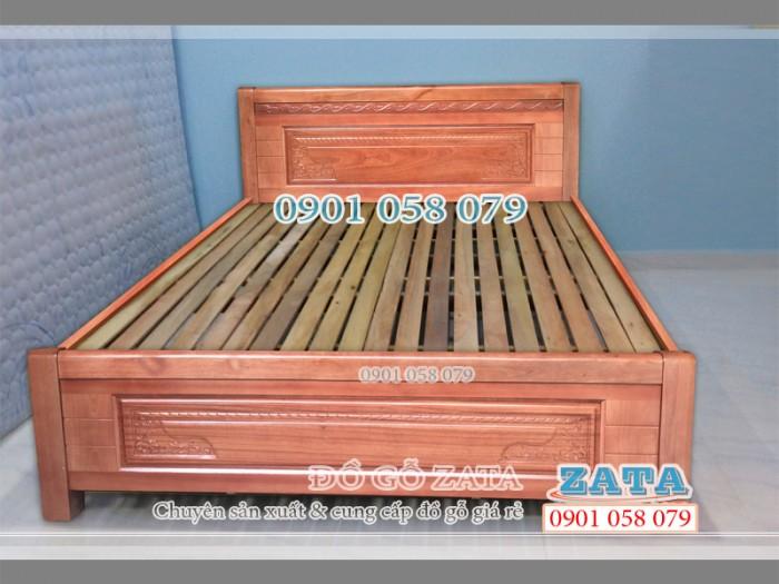 Giường ngủ gỗ tự nhiên 1m2 mẫu mới đẹp