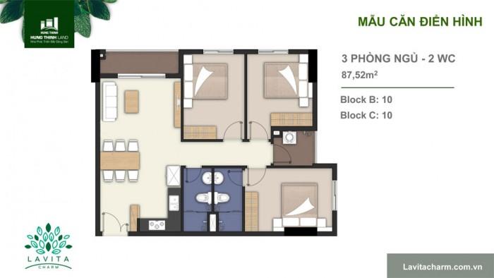 Bán căn hộ lavita charm bao gồm 3 phòng ngủ